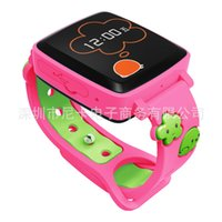 Wholesale Child safety guards watch targeting anti lost child elderly voice call SOS H9 positioning watches Pink