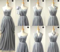 Cheap 2015 Bridesmaid Dresses Plus Size Cheap Bridesmaid Dress Chiffon Wedding Party Dresses Seven kinds of Neckline Long Short Bridemaids Dresses