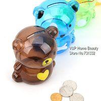 bear coin bank - 4 Teddy bear Coin Bank atm Money box bank Saving box Moneybox Unique toy for kids Decorative Novelty household gift