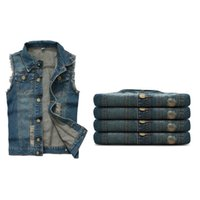 Wholesale Fall Personality New Style Sleeveless Man Denim Jackets Vest Jackets Brand Autumn Wear