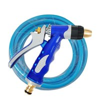 Cheap Thickening of the water pipe copper high pressure car water gun blue water pipe household washing water gun