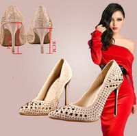 Wholesale New Arrival Sexy High Heels Red Bottoms Pointed Toe Pumps Women s High Heels Pumps Party Shoes Wedding Shoes Drop Shipping