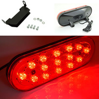 Wholesale Car Decoration Strobe Lamp W LED lm DC12V Auto Reversing Tail Brake Light Warning Flashing Bulb DRL Waterproof Red