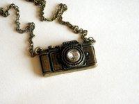 antique camera lot - 20pcs antique bronze crystal camera necklace jewelry
