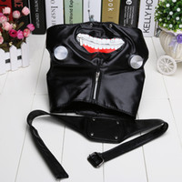 Wholesale Anime Cosplay Tokyo Ghoul Kaneki Ken Mask Adjustable Zipper Masks PU Leather Cool party Mask Toy