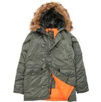 alpha parka - Fall Alpha Industries N B N3B Alpha parka Outdoor men s COLD Winter PARKA Alpha Jacket SAGE M XXL