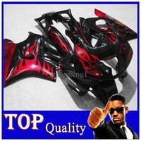 Cheap black red flames CBR600F3 91-94 91 92 93 94 ABS Fairings Body Kit Fairing For honda CBR600 CBR 600 F3 95 96 ABS Plastic Bodywork Set