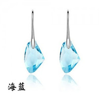 Wholesale Top quanlity fashion style sterling silver plated super style crystal woman earring for party gift jewelry