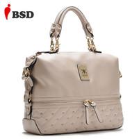 affordable messenger bags - New Promotion Fashion bag ladies women bag Tasteful Women leather handbags shoulder messenger bag rivet Affordable gifts V2G47