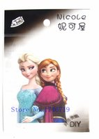 Wholesale New Sheets set Princess Elsa Anna Iron On Patches Iron On Transfers Birthday Gift For DIY Accessory T201