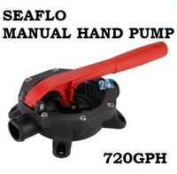 Wholesale High quality SEAFLO Boat Diaphragm Manual Hand Bilge Pump Waste Water Transfer Black GPH with Retail Box