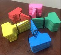 Wholesale New Arrive x10cm Plastic Plant T type Tags Markers Nursery Garden Labels Gray