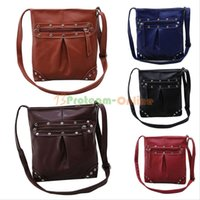 Wholesale Women Rivet Shoulder Bag Messenger Bag Handbag Leather Satchel Cross Body Bags