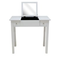 No white bedroom furniture - Bedroom Furniture Dressing Table With Mirror Vanity Makeup Table Storage Cabinet In White USA Stock