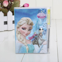 comic books - 11 cm high quality frozen book notebook and pencil students diary frozen elsa frozen Anna book notepad pages