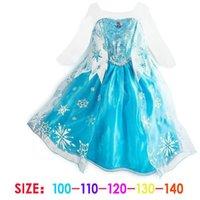 Cheap dress Girls Dresses elsa long sleeves Fall dress girl party dress anna princess costume baby girls elsa dress HOT JBD-FR