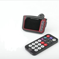 Wholesale 1 quot LCD Automobile Wireless Car Vehicle Mounted MP3 MP4 Player FM Transmitter SD Black Remote Control