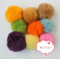 Wholesale Handmade cm Real Rabbit Fur Ball colorful bomber pom pom for Shoes Hat Jewelry Cloth Keychain Headdress etc