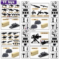 Wholesale Shen Yuan Falcon Commandos TS11205 Military Weapon Pack For SWAT Minifigures set Weapon DIY Assemble