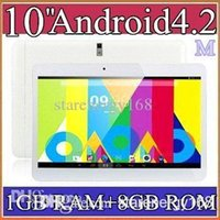 5PCS 10 pulgadas MTK6572 Dual Core 1.2Ghz Android 4.2 WCDMA 3G de la tableta llamada de teléfono PC GPS bluetooth wifi de doble cámara de 1GB 8GB PB10A-5