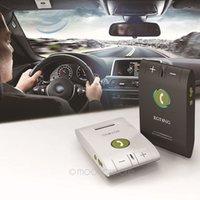 Wholesale 2015 New Arrive Ultrathin Bluetooth V4 Handsfree Multifunction Support Speakerphone Car Kit DHL FREE DA1097