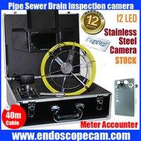 50M mètres accounter caméra d'inspection de canalisation vidéo étanche de tuyaux d'égout Serpent caméra d'inspection mur système de caméra d'égout