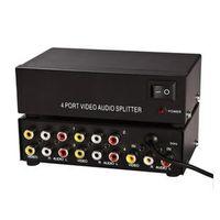 Wholesale 4 way audio splitter divider an AV audio amplifier into four quarters of a drag line Splitters