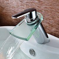 Wholesale Glass Water Waterfall Tap For Bathroom Sink Faucet Torneiras Para De Banheiro Modocomando