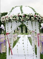 arbor house - Custom Made Color white Color Diameter m Height m Wedding Decoration Round Canopy Chuppah Arbor Fabric Drape