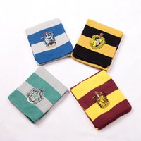 Wholesale Harry Potter Scarf Gryffindor Slytherin Hufflepuff Ravenclaw Knitted Neckscarf Colors Available Xmas Halloween Birthday Gift Cosplay Wear