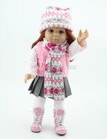 Cheap 18'' Reborn Baby dolls full handmade AMERICAN GIRL reborn silicone vinyl newborn baby doll baby toys soft girls gift bjd doll