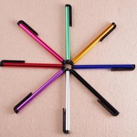 Wholesale universal stylus screen touch pen highly sensitive stylus pen capacitive screen pen colorful touch pen for iphone6 for ipad for samsung
