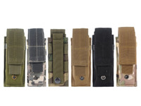 Wholesale Molle Light Portable Tactical Open Top Mag Magazine Cartridge Clip Pouch Men s Military Tactical Bag Hunting Bag