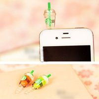 beverage accessories - The Latest Cup Dust Plug Fashion Personality Beverage Bottle Phone Dust Plug Multicolor Dust Cap Mobile Accessories For Women
