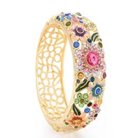 ancient technology - Small Adorn Article Cloisonne National Style Technology Set Auger Crystal Bracelet Gold Bracelet Restoring Ancient Ways