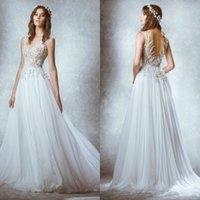 Cheap zuhair Murad weddings Best chiffon Wedding Dresses