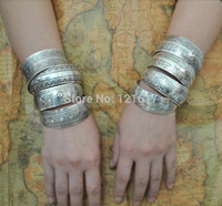 antique cuff bracelets - Gypsy Bohemian Factory Tibetan Jewelry Vintage Silver Bangles Antique Ethnic Statement Cuff Bracelets B0108