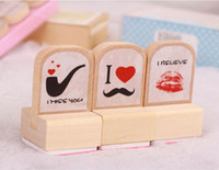 bathing wood - Children s stationery wooden stamp set DIY stamp wood stamp gift stamp set dandys