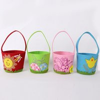 easter egg candy - Easter egg flower basket of non woven bags of gifts for children candy bag barrel children s Christmas gift