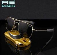 ao eyeglasses - Air Force Flyer RE General Randolph Brand MILITARY Men Metal ao Polarized SUNGLASSES mm oculos gafas eyeglass