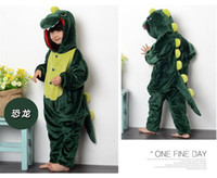 baby dinosaur costumes - Dinosaur Child Kigurumi Boy Girl Pajamas Animal Suit Cosplay Outfit Christmas Costume Kid Cartoon Jumpsuits Baby Animal Sleepwear