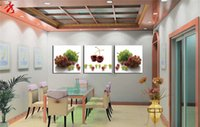 Cheap Grape cherry paintings for kitchen cuadros decor modular paintings posters and prints cheap modern canvas art wall panels for living room