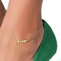 Wholesale 1 New Fashion Women Girls Elegant Sexy Anklet Foot Chain Ankle Bracelet Love Charm Sandal HOT Jewelry
