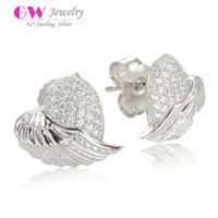 mothers day gift - Angel Wings earrings fashion made of silver ear ring as mothers day gift No90 ER1002