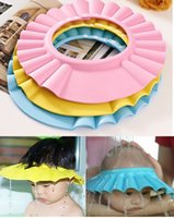 Wholesale Baby Kids Shampoo Shower Cap Soft and Adjustable Baby Hat Wash Hair Shield Waterproof Shower Caps