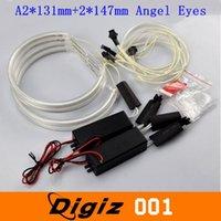 12v ccfl - 2 mm mm LED Angel Eyes Halo Lights CCFL White Non Projector V Headlights for BMW E46 Series CARS0730