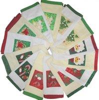 rectangle christmas towels - Christmas Design White Cotton Tea towel Kitchen Towel Terry Towel Freeshipping