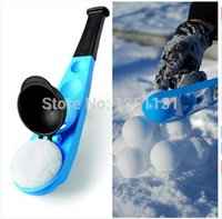 battle weapons - Winter Fun Toy SnowBall Thrower Snowball Maker Snow Ball scooper slinger Snow Chuck Snowball Launcher for Winter Battle Kids Toy