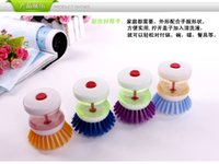automatic bowl cleaner - Automatic liquid brush pot Household pressure liquid washing brush cleaning brush pot Wash bowl brush manufacturer