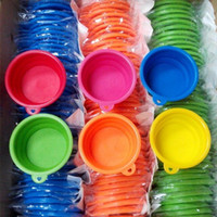 Wholesale Pet Dog Bowls Dog Supplies Feeders Dog Bowl Dishes Drinking Collapsible Silicone Travel Bowl Non Toxic Candy Color
